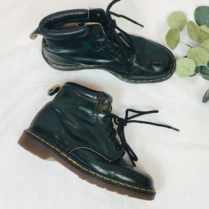 Classic vintage green black Dr Martens